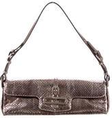 Jimmy Choo Metallic Snakeskin Cosmo Bag