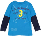 U.S. Polo Assn. Teal Blue 'U.S. Polo Assn.' Jersey Thermal Drop Sleeve Tee - Boys