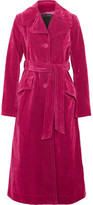 Marc Jacobs Cotton-blend Velvet Coat - Magenta