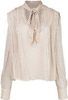 Jason Wu Collection polka dot tied blouse