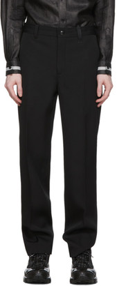 Burberry Black Wide-Leg Wool Trousers