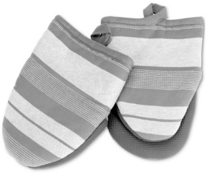 Cuisinart Yarn Dyed Striped Mini Oven Mitts, Set of 2