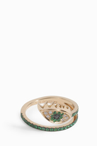 Delfina Delettrez Emerald Evil Eye Wrap Ring