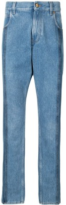 Versace Two-Tone Straight-Leg Jeans