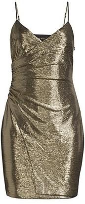 Black Halo Esthero Metallic Glitter Dress