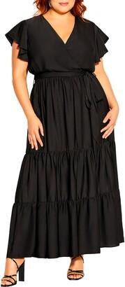 City Chic Flutter Away Maxi Dress
