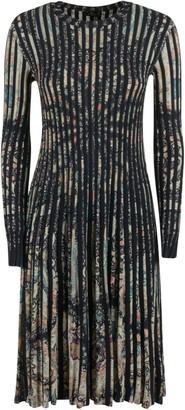 Etro Pleated Printed Dress
