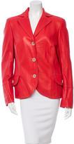 Akris Long Sleeve Leather Jacket