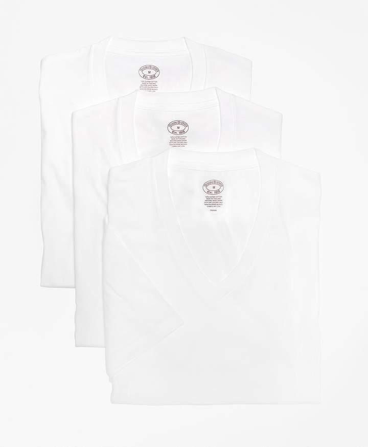 Brooks Brothers (ブルックス ブラザーズ) - スーピマコットン 3パック Vネック Tシャツ Traditional Fit
