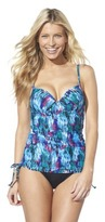 Sara Blakely ASSETS® By A Spanx® Brand Women's Tankini Swim Top -Multicolor Print