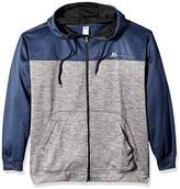 Russell Athletic Men's Big and Tall Full ZP Poly Fleece Hood With Contrast Yoke r LC