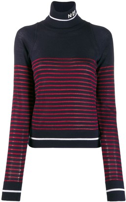 No.21 Striped Roll Neck Jumper