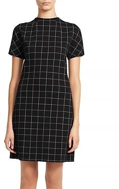 Theory Dolman Sleeve Plaid Shift Dress