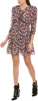 The Kooples Cherry Blossom Silk-Blend Mini Dress