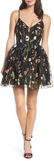 Mac Duggal Embroidered Skater Dress