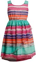 Bonnie Jean watercolor ombre dress - girls 4-6x