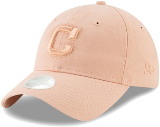 New Era Women's Pink Cleveland Indians Tonal Blush Sky Core Classic 9TWENTY Adjustable Hat