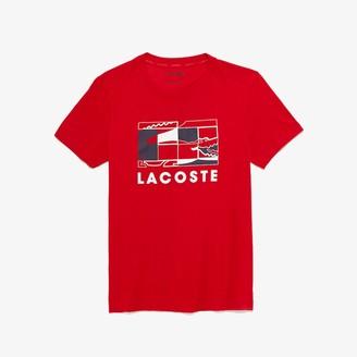 Lacoste Men's SPORT Crocodile Design Breathable T-shirt