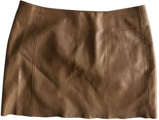 Maje Beige Leather Skirt for Women