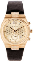 Bulova 97M107 Gold-Tone & Black Watch