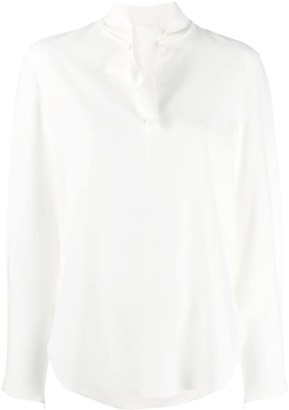 See by Chloe Bow V-Neck Blouse