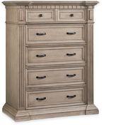 Kingsley Venetian 5-Drawer Dresser in Driftwood