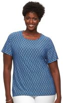 Croft & Barrow Plus Size Jacquard Wave Top
