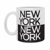 DENY Designs Zoe Wodarz I Heart NYC Ceramic Mugs in Black (Set of 2)