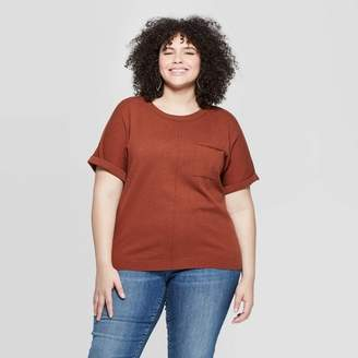 Universal Thread Women's Plus Size Short Sleeve Crewneck Pullover Sweater - Universal ThreadTM
