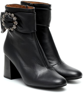 See by Chloe Embellished leather ankle boots