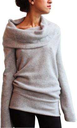 Wangsaura Women Long Sleeve Ruffle Cowl Neck Pullover Jumper Dress Outerwear (L(UK 10)