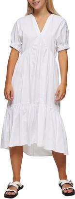 Topshop Poplin Bow Midi Dress