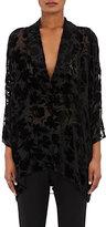 Nili Lotan Women's Helga Velvet Floral Top-BLACK