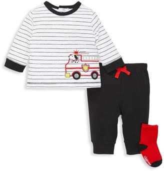 Little Me Baby Boy's 3-Piece Top, Jogger Pants & Socks Set