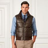 Ralph Lauren Purple Label Quilted Leather Down Vest
