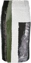 Aviu sequin multistriped skirt - women - Cotton/Polyamide/Polyester - 40
