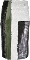Aviu sequin multistriped skirt - women - Cotton/Polyamide/Polyester - 44