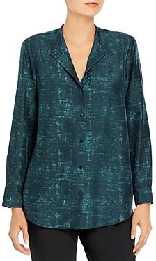 Eileen Fisher Abstract Print Silk Shirt