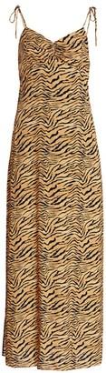 Vix By Paula Hermanny Tiger-Print Cami Dress Cover-Up