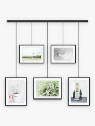 Umbra Exhibit Multi Hanging Photo Frame Display, 5 Photo