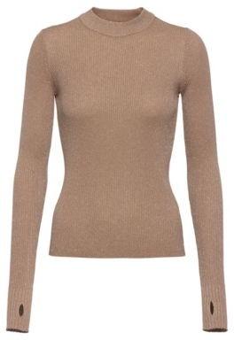 HUGO BOSS Mock-neck sweater in sparkling yarns