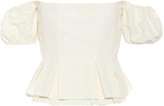 Brock Collection Off-the-shoulder cotton-blend top