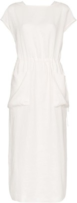 Lvir Drawstring Waist Maxi Dress