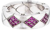 Chanel 18K Pink Sapphire Matelassé Ring
