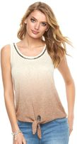 Juicy Couture Women's Beaded Ombre Tank