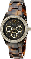 Fossil Women's ES3814 Stella Multifunction Acetate Watch