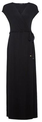 Dorothy Perkins Womens Black Jersey Wrap Maxi Dress, Black