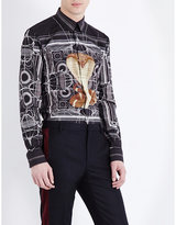 Givenchy Snake-print Slim-fit Cotton Shirt