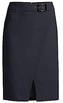 Elie Tahari Women's Gracelyn Belted Pencil Skirt - Size 0