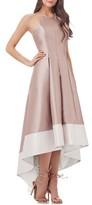 Carmen Marc Valvo Women's Embellished Colorblock Halter Gown